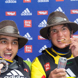 Michele & Sam with medals (MArnu)