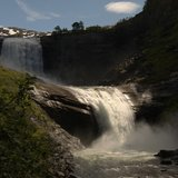 photo: Michele Ramazza: Eksingefossen, Sam Sutton with a wonderful light
