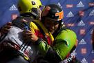 World championship hug