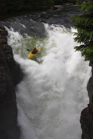 Money drop kayak waterfall